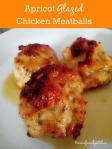 apricot glazed chicken meatballs